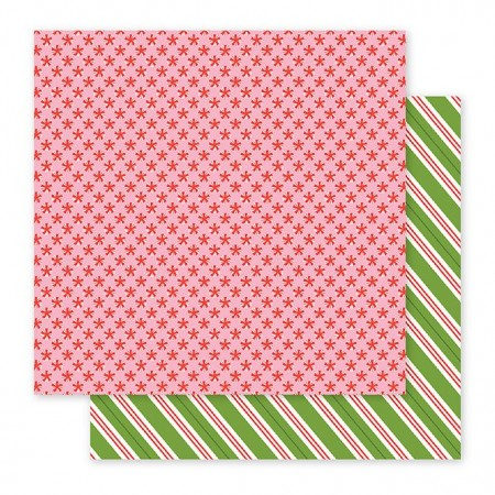 """AC Holly Jolly Double-Sided Cardstock 12""""x12"""" - Peppermints"""