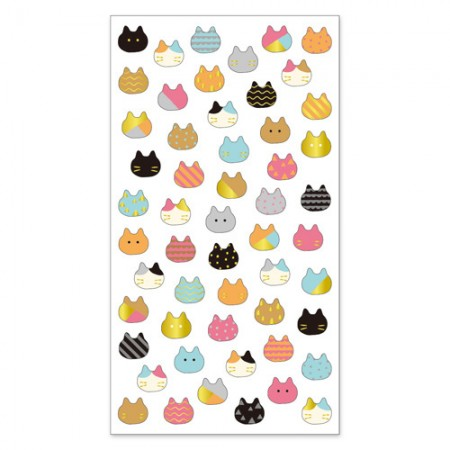 Cat head sticker (Copain Copine)