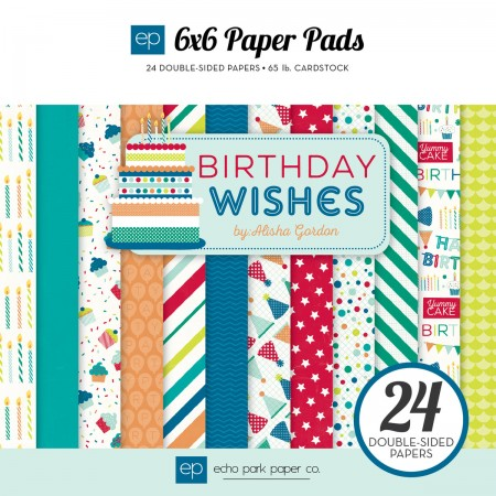 EP Birthday Wishes Boy 6x6 Paper Pad