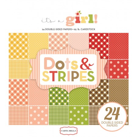 EP It's A Girl Dots & Stripes 6x6 Paper Pad