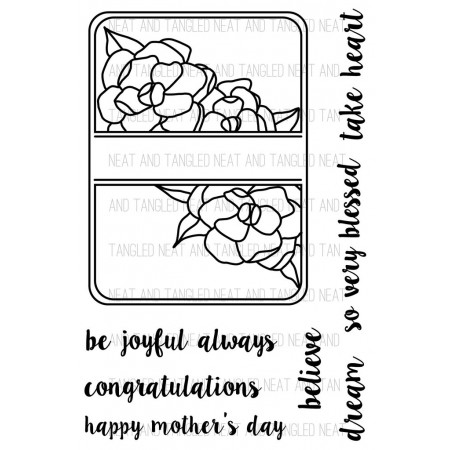 NT Gardenia Blooms Journaling Card