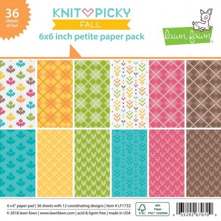 LF knit picky fall petite paper pack 6x6 Paper Pad