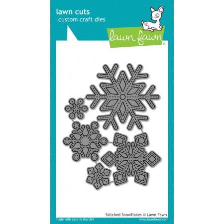 LF stitched snowflakes - lawn cuts