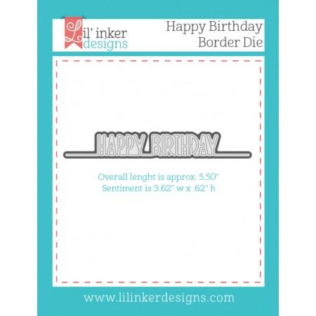 LI Happy Birthday Border Die