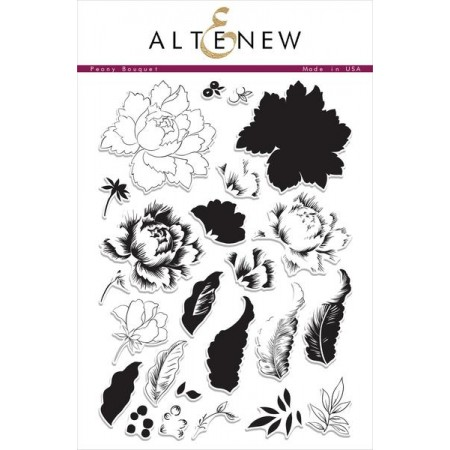 ATN Peony Bouquet Stamp Set