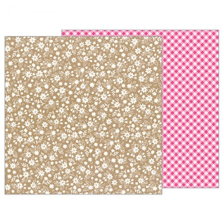 Pebbles - Forever My Always Collection - 12 x 12 Double Sided Paper - Love Lace