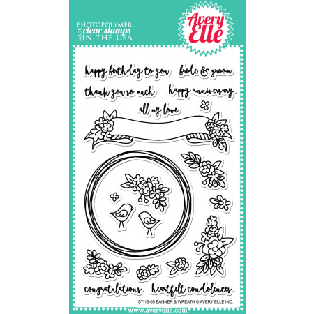 AE Banner & Wreath Clear Stamps