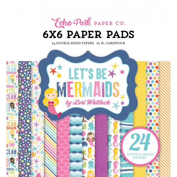 EP Let's Be Mermaids 6x6 Paper Pad
