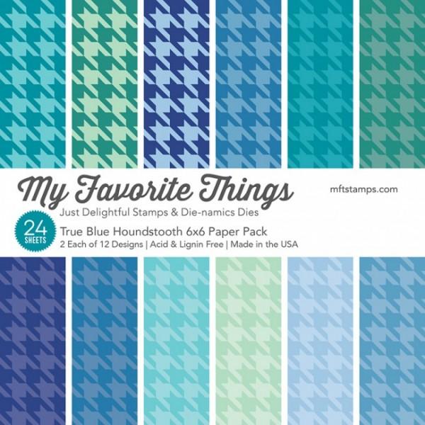 MFT True Blue Houndstooth Paper Pack