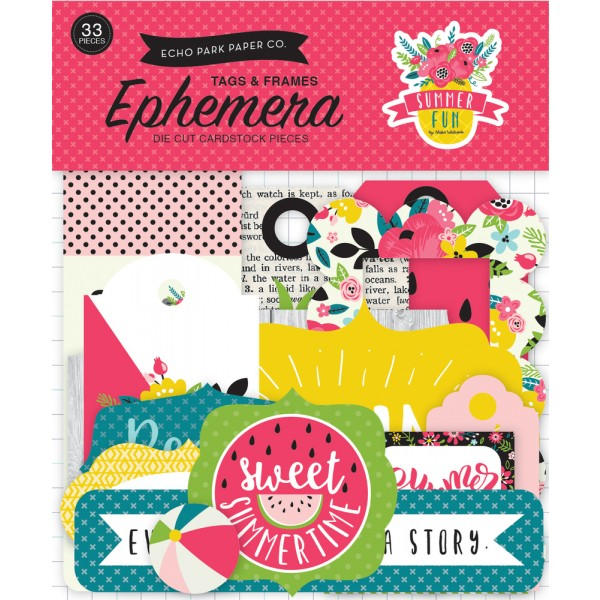 EP Summer Fun Frames & Tags Ephemera